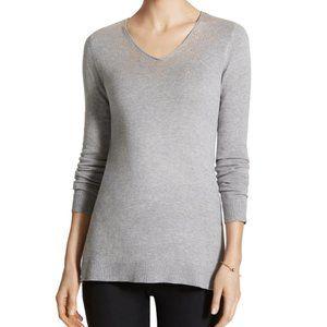 Chico's Gray Shimmer Jordan Pullover Sweater